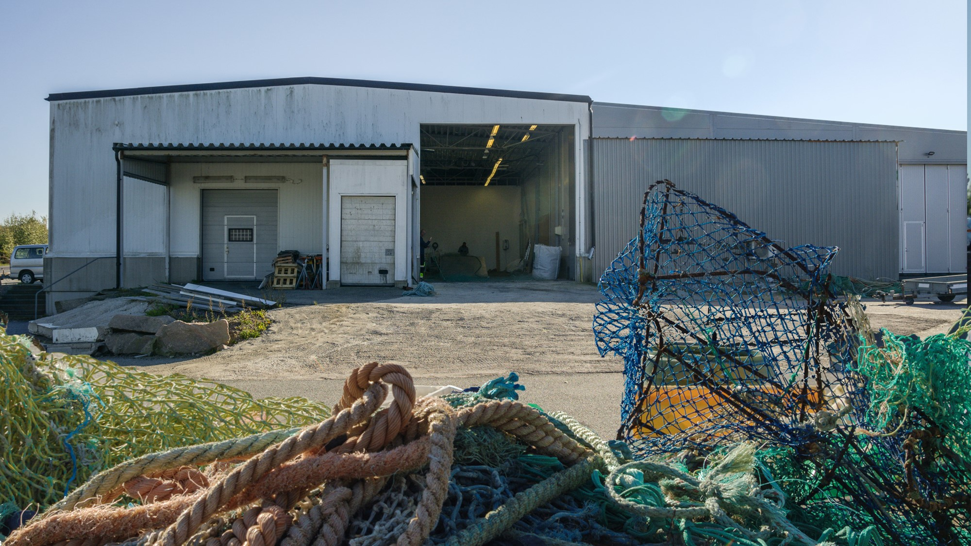 Testbädd marint avfall